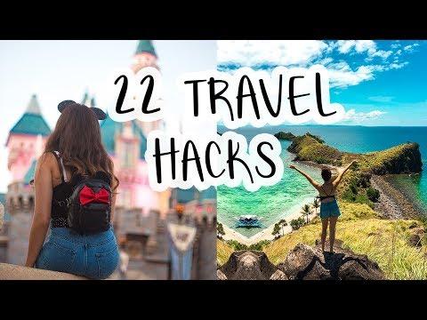 22 TRAVEL HACKS + TIPS // PACKING, SAVING MONEY, + MAKING LIFE EASIER ♡