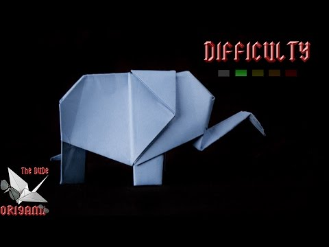 [ORIGAMI TUTORIAL] Elephant || Animals/For Kids/For Beginners