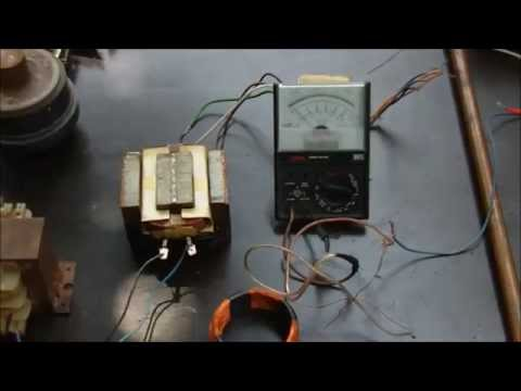 Transformer Demo (hands-on experiments, induction, Lenz, power transmission)