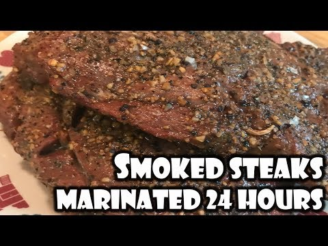 Smoked Steaks - 24 Hour Marinate   BUMMERS BAR-B-Q & SOUTHERN COOKING