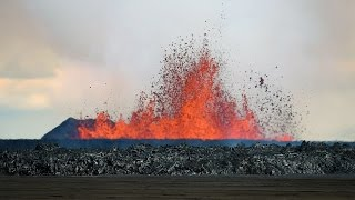 Volcanic Eruption in Iceland - Rare Footage (HD 720p)
