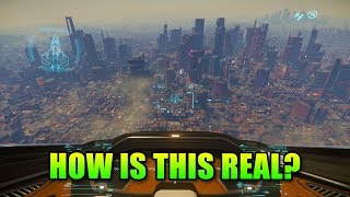 Download How Is This Real?! Star Citizen 3.5 Arc Corp City Planet Video