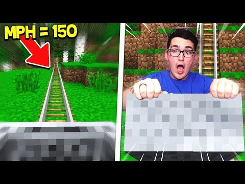 RIDING THE FASTEST MINECART IN MINECRAFT!