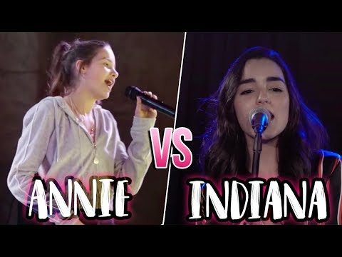 Annie LeBlanc VS Indiana Massara SINGING BATTLE!