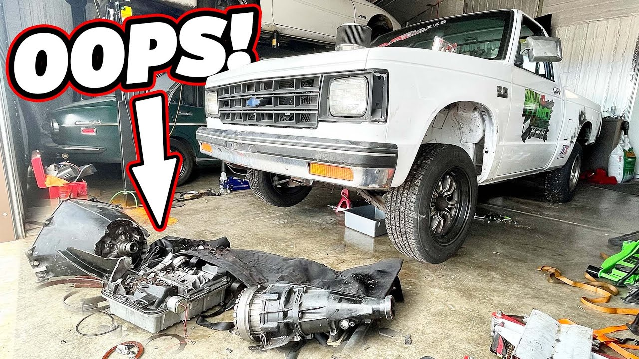 Completely Destroyed The Transmission In Burnie The Burnout Truck!