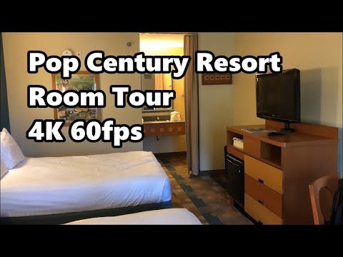 Disney's Pop Century Resort Room Tour | 4K 60fps | Standard Room | Walt Disney World