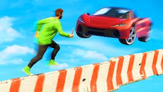 EXTREME MILE HIGH OBSTACLE DEATHRUN! (GTA 5 Funny Moments)