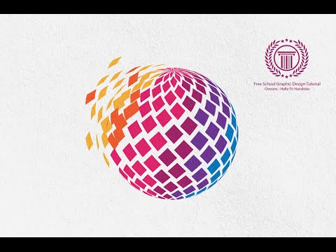 Pixel Logo Design Tutorial Using 3D Revolve Effect in Adobe illustrator CS6 | No CorelDraw X6 | X7