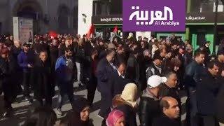 إضراب يشل تونس شعاره الشعب يريد إسقاط الحكومة