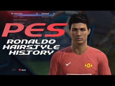 PES History of Cristiano Ronaldo Hairstyles 2005-2013