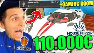 Er kauft ein Haus mit Gaming ROOM + Koenigsegg Agera für 110.000€   House Flipper