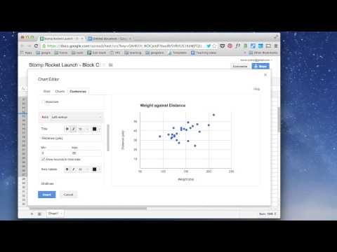 Scatterplots & correlation coefficients in Google Sheets