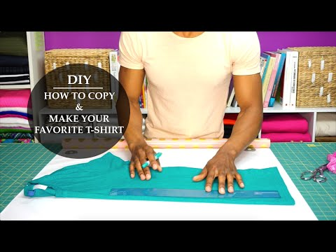 HOW TO COPY & MAKE YOUR FAVORITE T-SHIRT