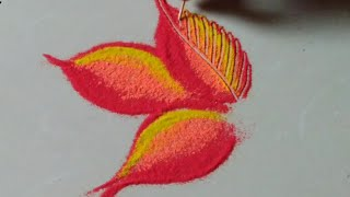 उलट सुलट रंगसंगती वापरून काढलेली आकर्षक रांगोळी डिझाईन by Jyoti Raut Rangoli