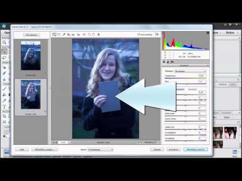 Witbalans bepalen met de RAW converter van Photoshop Elements 13