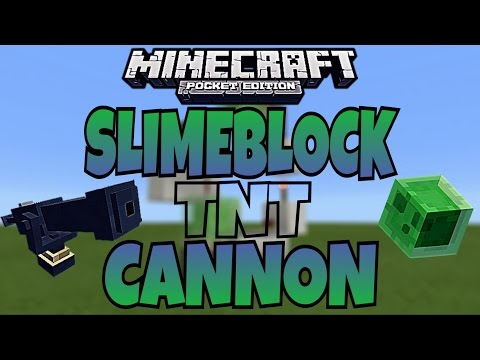 Slimeblock TNT Cannon | MCPE 0.16.2 | ✔️Redstone Tutorial✔️