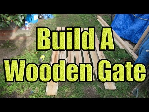 How to Build a Fence Gate out of Wood (Wooden Gate Construction with DaznDi Properties)