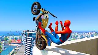 GTA 5 Spiderman Epic Jumps #3 ( Spider-Man Stunts & Fails )