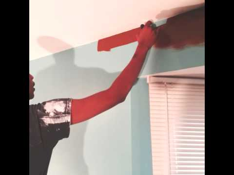 Kanye west ....painting without tape perfect line