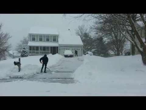 Time-lapse Snow Shoveling