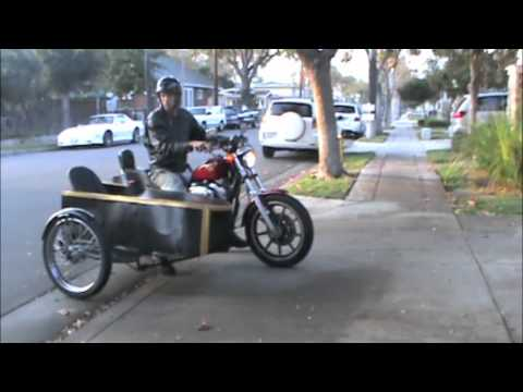 Homemade tilting sidecar for motorcycle