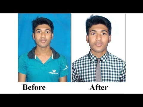 How to Change Background and Shirt Passport Size Photo in Photoshop cs6 | #Maxpoint-Hridoy