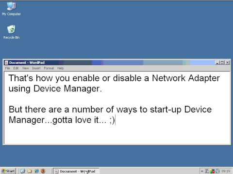 XP   Enable Disable Network Adapter via Device Manager