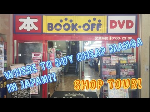 BOOK OFF TOUR!! BUYING CHEAP MANGA IN JAPAN!