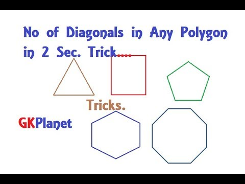 How to Find the Number of Diagonals in a Polygon in 2 sec.