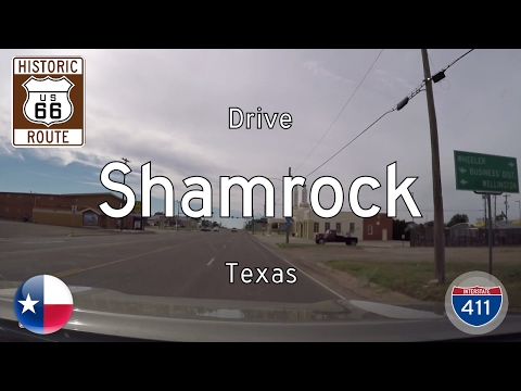Historic Route 66 - Shamrock - Texas | Drive America's Highways 🚙