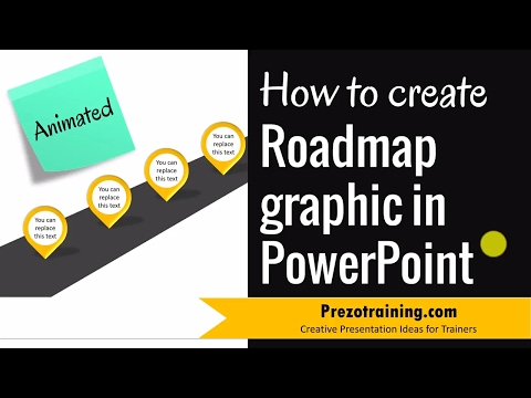 How to create Roadmap Graphic in PowerPoint (STEP BY STEP VIDEO)