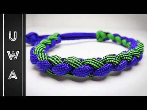 How to make a Four Strand Round Paracord Bracelet [MAD MAX STYLE] [NO BUCKLE NEEDED]