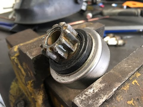 Starter motor pinion/ Bendix gear not engaging with flywheel