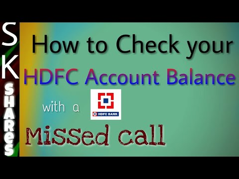 how to check your HDFC Bank account balance through missed call