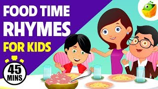 Food Time Rhymes for Kids   45 Mins Non Stop Compilation   Magicbox English Kids Channel
