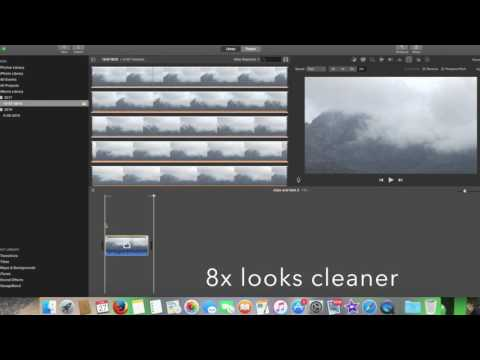 How to Make a Time Lapse in iMovie (easy 2017) under 1 minute