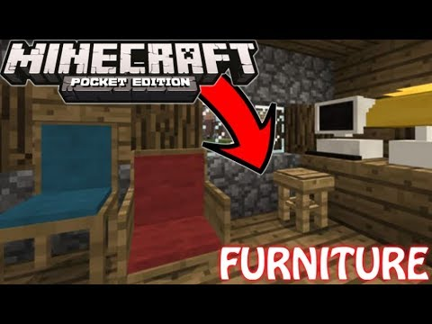 How To Get Furniture In Minecraft Pocket Edition 1.2.15+