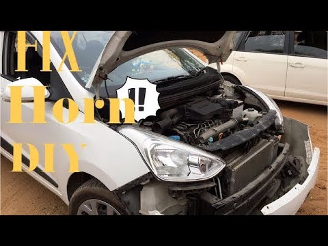 how to install horn in car, watch fixing new horn in Indian Cars, Hyundai Grand i10 Sports