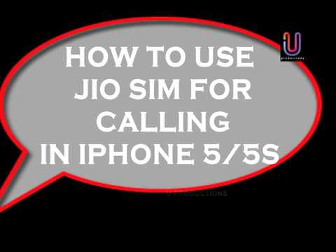 How to Activate Reliance Jio 4G LTE Network Sim to iPhone 5, 5s, 5c