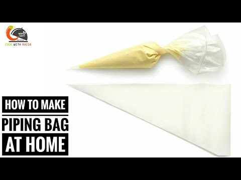 घर मे पाइपिंग बैग कैसे बनाएं।How to make piping bag|Homemade piping bag|Cake Recipe