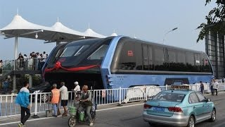 Massive car-straddling bus completes test journey in China (Tomorrow Daily 402)