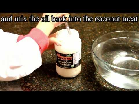 Coconut Cream Concentrate Preparation