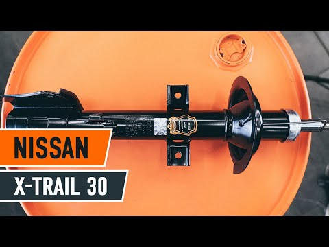 How to replace rear shock absorbers NISSAN X-TRAIL T30 TUTORIAL | AUTODOC
