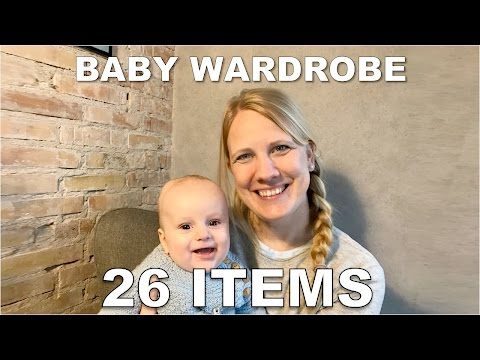 Baby Capsule Wardrobe: 26 items you need 0-6 month (per size)