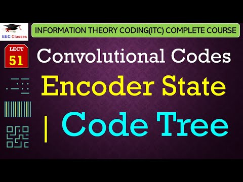 Convolutional Codes - States of the Encoder, Code Tree with Example(ITC Lectures Hindi)