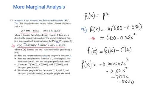 Marginal Analysis (p. 211 #13)