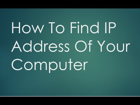 How to find IP Address of PC or Computer(Using a Command Prompt)