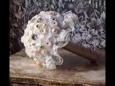Lace Button Bouquets ¦ Button Bead Bouquets