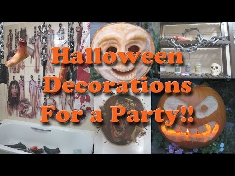 Halloween decorations for a party
