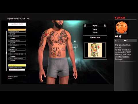 NBA 2K16: MyPlayer Tattoos MakeOver